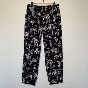 Talbots golfer printed fabric pants